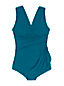 Women's Wrap Front Tunic Slender Swimsuit - DD Cup
