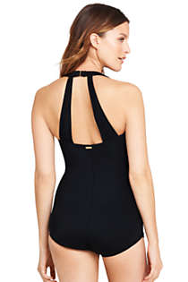 Women's Slender Tunic One Piece Swimsuit with Tummy Control, Back