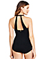 Women's Plus Slender Tunic Palm Ombre Print Swimsuit