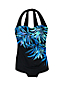 Women's DD-Cup Slender Tunic Palm Ombre Print Swimsuit