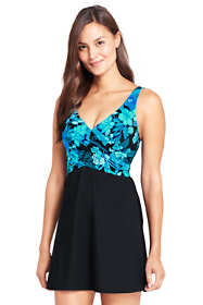 Women's Slender Wrap Swimdress with Tummy Control