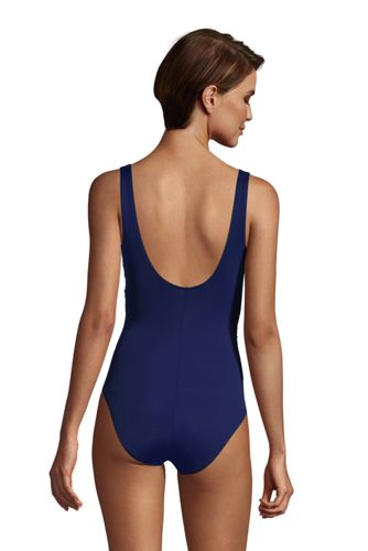 Women's DDD-Cup Slender Tummy Control Chlorine Resistant V-neck Wrap One Piece Swimsuit