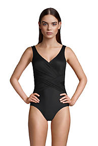 832091da4a Women's Slender Wrap One Piece Swimsuit with Tummy Control
