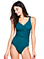 Women's Plus Slender Wrap Front Swimsuit