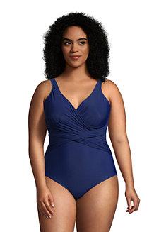 Women's Wrap Front Slender Swimsuit