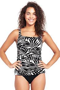 Womens Shape & Enhance Rose Print V-neck Tankini Top - 14-16 - BLACK Lands End Cheap Price Fake Wiki Sale Online VIZS3