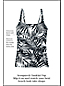 Women's Shape & Enhance Palm Print Tankini Top