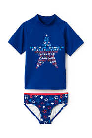 Little Girls Rash Guard Swimsuit Set