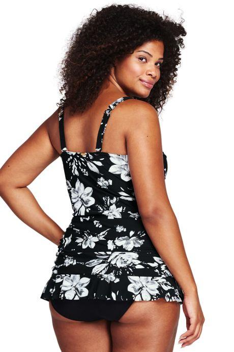 Women's Plus Size Shaping Sheath Tankini Top with Tummy Control