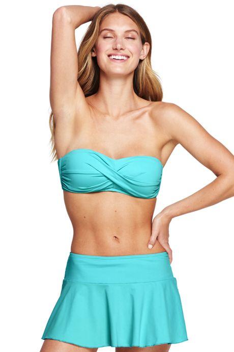 Women's D-Cup Bandeau Bikini Top