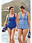 Women's Beach Living D Cup Blouson Tankini Top