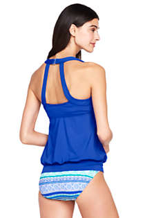 Women's Blouson Tankini Top, Back