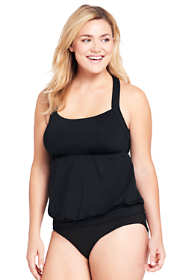 Women's Plus Size DDD-Cup Blouson Tankini Top