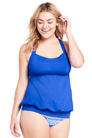 Women's Plus Size Blouson Tankini Top