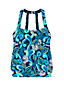 Women's Beach Living Blouson Tankini Top Paisley Print