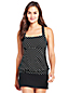 Women's D Cup Beach Living Blouson Tankini Top Dot