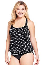 Women's Plus Size Blouson Tankini Top