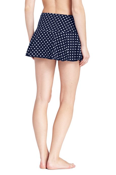 Women's Petite Flounce Mini SwimMini Skirt with Tummy Control