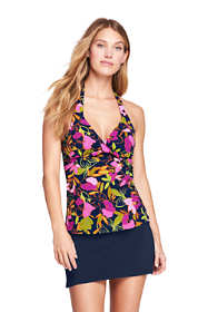 Women's D-Cup Halter Twist Tankini Top