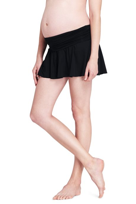 Women's Maternity Flounce Mini SwimMini Skirt