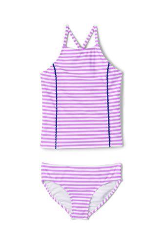 girls slim tankini swimsuit set