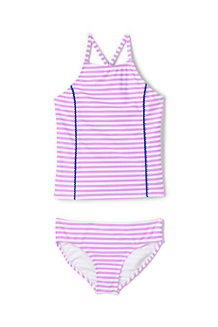 Girls' Bobble Trim Tankini Set
