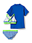 Little Girls' Three-piece Graphic Rash Vest Swim Set
