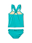 Little Girls' Sun Graphic Ruffle Trim Tankini Set