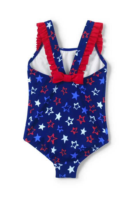 Toddler Girls Back Bow One Piece Swimsuit