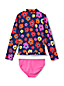 Little Girls' Ruffle Hem Rash Vest Set
