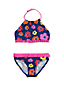 Girls' Halter Neck Ruffle Trim Bikini Set