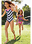 Little Girls' Striped Ruffle Swimsuit