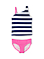 Girls' One Shoulder Tankini Set
