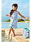 Little Girls' Ruffle Hem Patterned Swim Cover-up