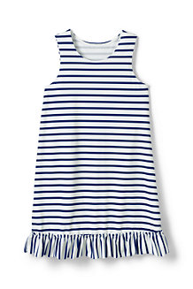 Girls' Ruffle Hem Patterned Swim Cover-up