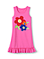 Little Girls' Ruffle Hem Graphic Swim Cover-up