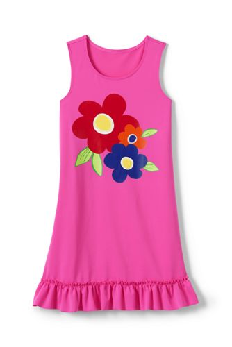 Toddler Girls Swim Dress Cover Up From Lands End