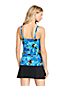 Women's Mastectomy Beach Living Squareneck Tankini Top Deco Floral
