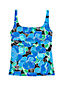 Women's Beach Living Squareneck Tankini Top Deco Floral