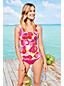 Women's Beach Living Squareneck Tankini Top Deco Floral