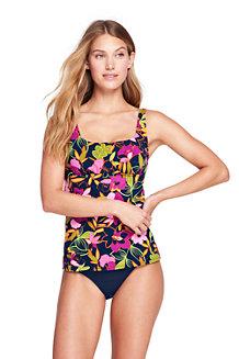 Womens Beach Living Squareneck Tankini Top Jungle Floral - 14-16 - BLUE Lands End Sale Footlocker Cheap Sale Deals Sale With Mastercard Nxdu3eg