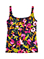 Women's D Cup Beach Living Squareneck Tankini Top Jungle Floral
