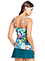 Women's Resort Collection Square Neck Tankini Top Paradise Floral