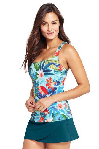 Le Tankini Encolure Carrée Paradis Fleuri, Femme Stature Standard
