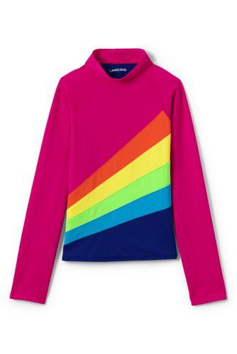 Little Girls' Long Sleeve Colour Block Rash Vest