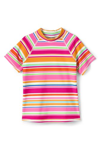 Toddler Girls Short Sleeve Rash Guard From Lands End