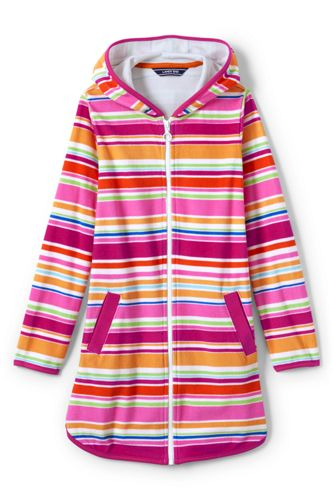 Little Girls' Terry Printed Hooded Cover-up