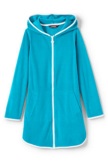 Girls' Terry Hooded Cover-up