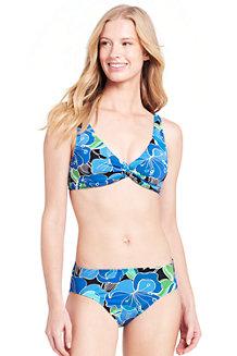 Women's Beach Living Twist Bikini Top Deco Floral