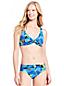 Le Haut de Bikini Twisté Imprimé Floral, Femme Stature Standard